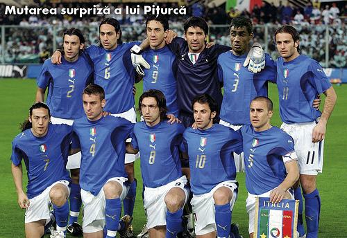 Surpriza lui Piturca, Romania Italia, 13 Iunie 2008
