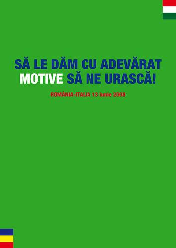 Motive, Romania - Italia, 13 Iunie 2008